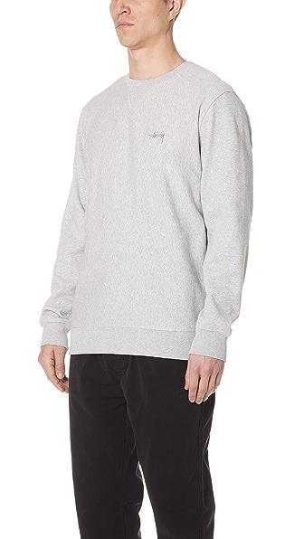 StussyStockTerryCrewSweatshirt