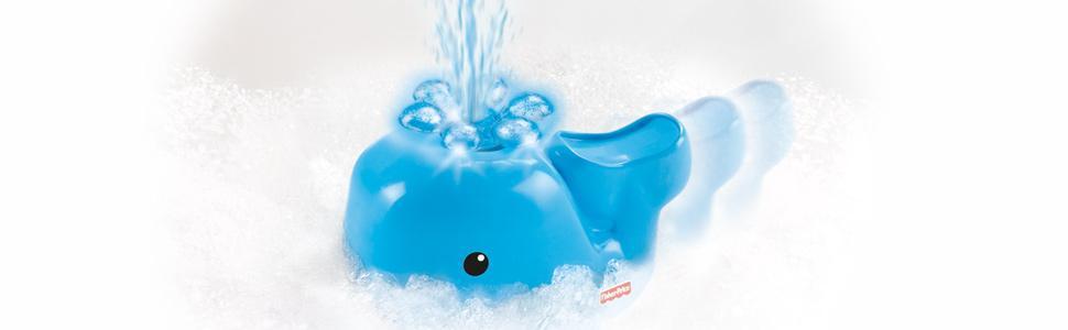 fisher price 费雪 喷水洗浴小鲸鱼v4377 彩色