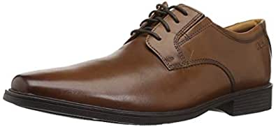 CLARKS Men's Tilden Plain Oxford 深棕褐色