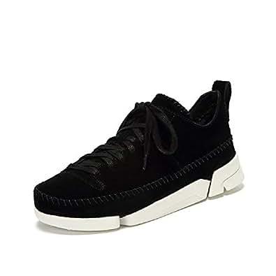 Clarks 女鞋 黑色麂 UK3 TRIGENIC FLEX 三瓣鞋1代(亚马逊自营 保税区发货)