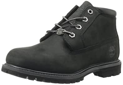 Timberland Women's Nellie Double WP Ankle Boot,Black,5 M US