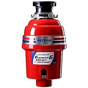 贝克巴斯(BECBAS) 厨余垃圾处理器ELEMENT6 (E6)美亚同款 【免费安装 咨询电话:400-023-2227 or 微信公众号:becbas】