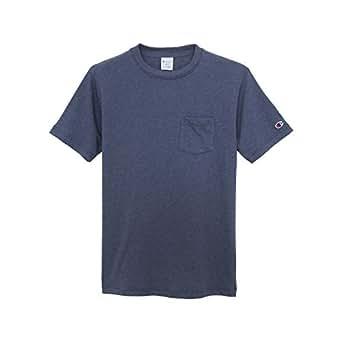 Champion BASIC 男式 T恤 C3-K344-370 深蓝色 M