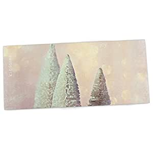 """KESS InHouse Sylvia Cook """"Bottle Brush Trees"""" Pink Office Desk Mat, Blotter, Pad, Mousepad, 13 by 22-Inches"""