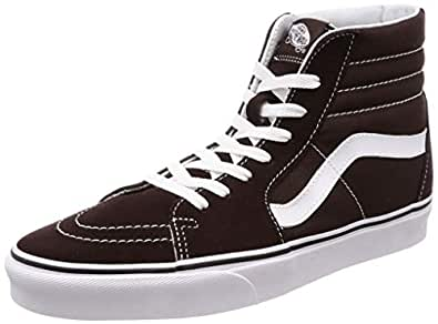Vans Sk8-Hi 中性休闲高帮滑板鞋,舒适耐穿的标志性华夫格橡胶鞋底 Chocolate Torte/True White 6.5 D(M) US
