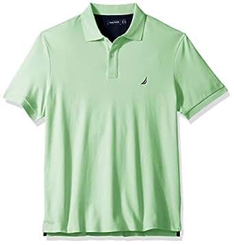 Nautica 男士经典款短袖纯色软棉 Polo 衫 Ash Green 1XLT Tall
