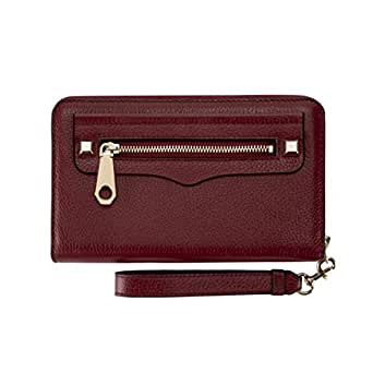 Rebecca Minkoff 瑞贝卡·明可弗Regan 拉链镯子-Iphone Next  Deep Red Leather 均码