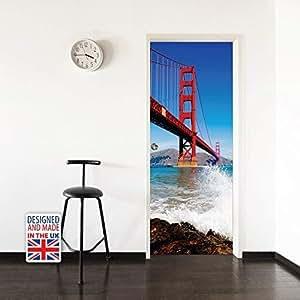 Walplus WD10027 金色门桥门壁画,乙烯基,多色,103 x 5.4 x 5.4 厘米
