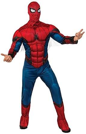 蜘蛛侠返校节–蜘蛛侠成人服装 Red/Blue Large