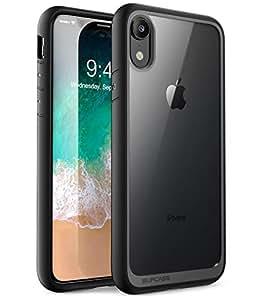 iPhone XR 手机壳,SUPCASE 【独角兽甲壳系列】优质混合保护透明手机壳适用于 Apple iPhone XR 6.1 英寸 2018 版本SUP-iPhoneXR-6.1-UBStyle-Black 黑色