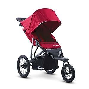 美国Joovy Zoom 360 Ultralight Jogging高景观避震慢跑推车- 红色(美国品牌 香港直邮)3个月以上可用,最大承重50磅,可平躺170度。大型充气轮,越野悬架,慢跑设计。前轮直径31cm,后轮直径41cm,能够轻松通过大多数的崎岖路面。能链接大多数品牌的儿童安全提篮。(包邮包税)