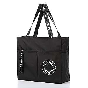 【出行必备】Naphele奈菲乐 时尚大容量旅行单肩包 手提挎包 防水行李包收纳包 衣物收纳袋子TB41 (黑色)