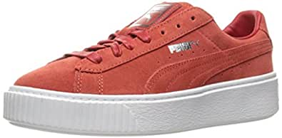 Puma 彪马 女式绒面革 防水台 Core Fashion 运动鞋 Barbados Cherry/Barbados 5.5 B(M) US