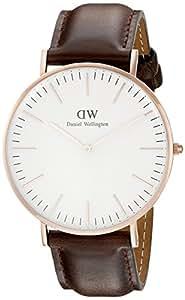 Daniel Wellington 丹尼尔•惠灵顿 瑞典品牌 Classic系列 玫瑰金表圈表扣 石英手表 男士腕表 DW00100009(原型号0109DW)