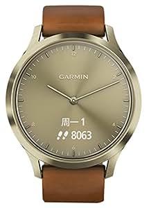 GARMIN 佳明 vivomove HR 经典版 流光金 均码 指针式光电心率健康监测智能运动时尚男女情侣手表