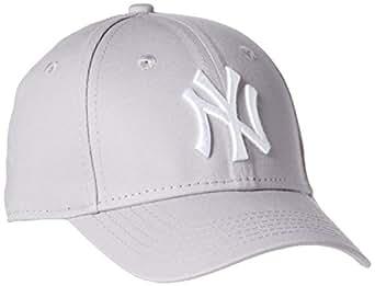 New Era 男童 MLB纽约洋基队基本款9Forty可调棒球帽,Grey, CHILD