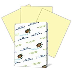 Hammermill Paper, Colors Canary, 20lb, 11 x 17, Ledger, 500 Sheets / 1 Ream (102152R), Made In The USA