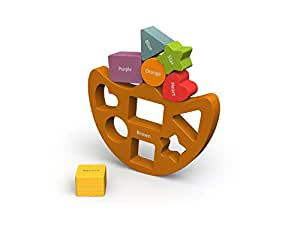 BeginAgain - Balance Boat Shapes and Colors, Make Learning Fun and Help Spark Your Child's Imagination, Perfect for Learning Color Names, Shapes and Spatial Awareness (For Kids 2 and Up)