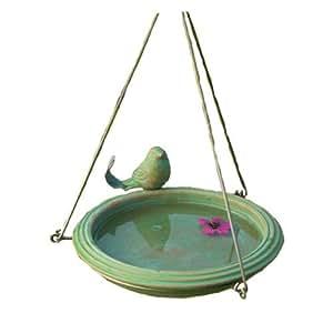 古老涂鸦圆形悬挂式鸟浴盆 多色 AG-17026