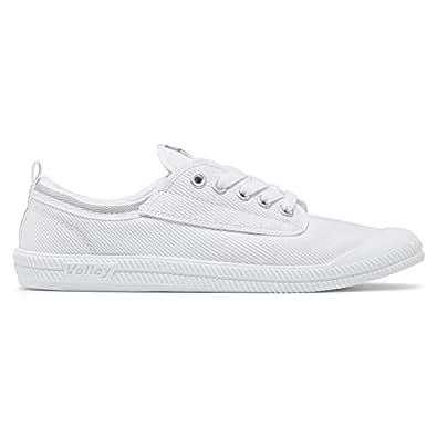 VOLLEY AUSTRALIA 女 INTERNATIONAL CANAVAS 生活休闲鞋 600000-AAV 白色 / 浅灰色 36 (亚马逊进口直采,澳大利亚品牌)