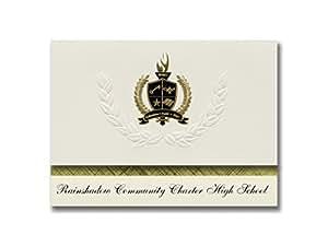 标志性公告 Rainshadow Community Charter High School(Reno, NV) 毕业公告,总统基本包装 25 带金色和黑色金属箔印章