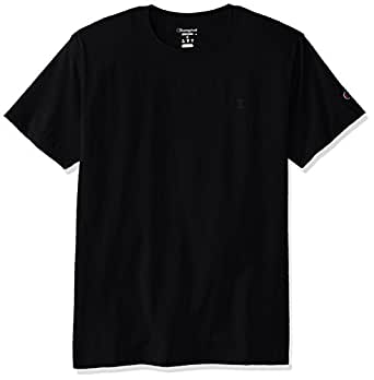 Champion 男士 经典 Jersey T恤 Black, 2XL