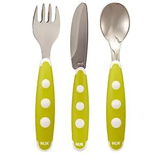 德国 NUK 宝宝 刀叉勺餐具学习套装