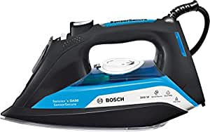 Bosch 博世 TDA5080GB 蒸汽熨斗,带 SensorSecure,3000 W - 黑色/蓝色 蓝色 TDA5080GB