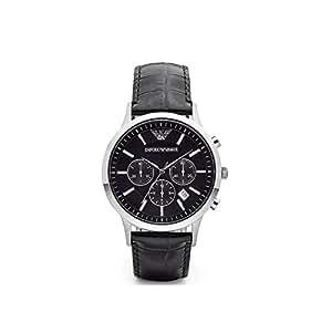 Emêorio Armani 时尚黑色腕带石英手表 AR2447