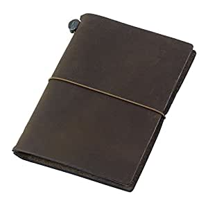 MIDORI TRAVELER'S Notebook 皮质笔记本 茶色 护照型