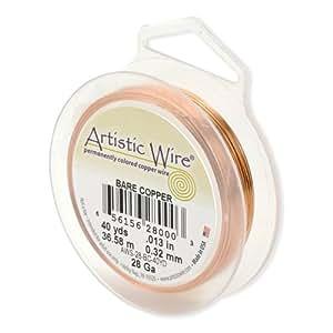Artistic Wire 22-Gauge Bare Copper Wire, 15-Yards