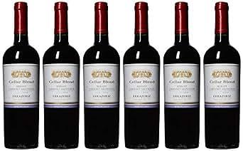 【亚马逊海外直采】Vina Errazuriz 伊拉苏 酒窖混酿梅洛赤霞珠干红葡萄酒750ml*6 (智利进口红酒)