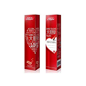 Colgate 高露洁 大胆爱爱心牙膏130g*3(粉*1+红*2)情侣款(表白利器,网红牙膏)