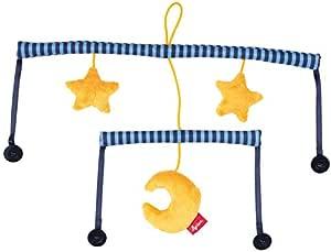 Sigikid , 女孩和男孩 , 基本 Soft Mobile , sigimix - 婴儿 - 系统 , 月亮和星星 , 蓝色 / 黄色 , 41898