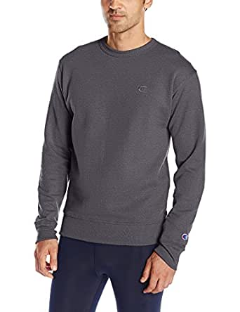 Champion 男士Powerblend套头衫运动衫 Granite Heather, Small