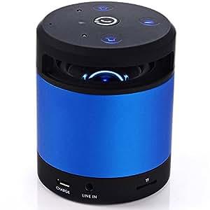 歌杰仕 无线智能感应蓝牙音箱 免提通话 挥手感应换歌 智能语音提示 便携迷你手机小音响 (蓝色)