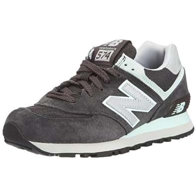 New Balance 574系列 女复古鞋 WL574GG0 深灰/薄荷绿 37