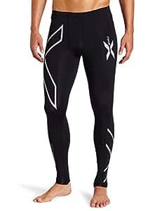 【澳大利亚】 2XU 男士 核心16压缩紧身裤 MA1967b 黑色/银色 L(亚马逊进口直采,澳大利亚品牌)