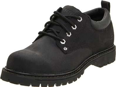 Skechers 斯凯奇 USA系列 男 时尚低帮牛皮经典工装鞋 7111/B KS 黑色 39.5 (US 7)