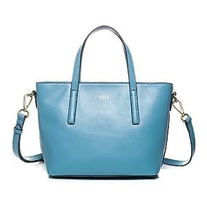 ELLE 女士 牛皮手拎单肩斜挎套装包 TM151E60217AB 天使蓝 均码