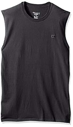 Champion 男士 经典 Jersey Muscle T恤 Granite Heather,S