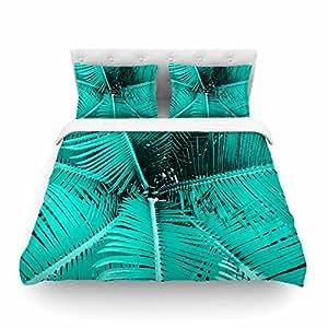 "KESS InHouse Suzanne Carter""Palm-Aqua""羽毛中号双人床羽绒被套,223.52 x 223.52 cm"