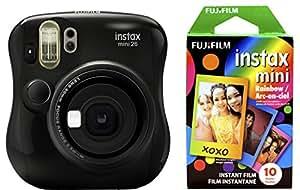 Fujifilm 拍立得 Mini 26 +彩虹胶片套装 - 黑色