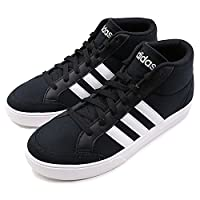 Adidas阿迪达斯男鞋2018新款高帮透气运动鞋轻便休闲鞋板鞋DB0044 1号黑色/1号黑色/侦探灰 42.5