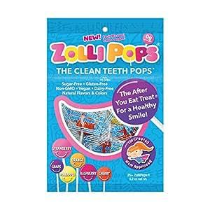 Zollipops 法国棒棒糖 牙齿清洁工具,预防蛀牙棒棒糖,多品种,25件装