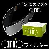【 PM2.5】便携式空气净化器 Aria *二口罩 ヘッドフォンスタイル 个人白色 × 黑色  専用フィルター(4個) フィルター単品:(約)横2.3×高さ1×縦2.3cm/約2g