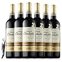 西班牙原瓶进口红酒 西班牙奥瑞安骑士干红葡萄酒 750ml*6