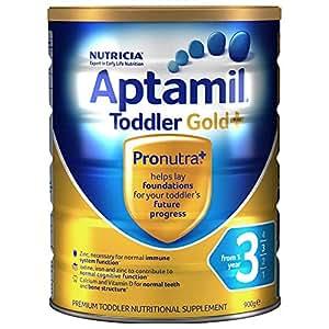 (跨境自营)(包税) Aptamil 新西兰爱他美 金装 婴儿奶粉 3段900g(一岁及以上)