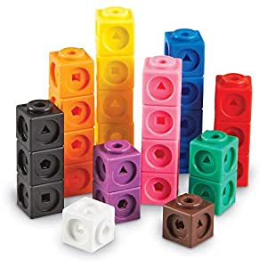 Learning Resources Mathlink积木,教育计数玩具,100块套组(5岁+)