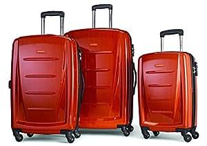 Samsonite 新秀丽 温菲尔德2 3PC Hardside(20寸/24寸/28寸)行李箱,橙色